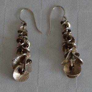 Silpada Oxidized Silver Dangle Shell Earrings